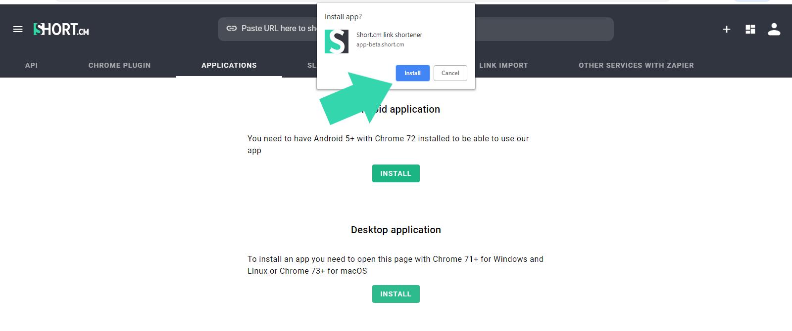 install-shortcm-app