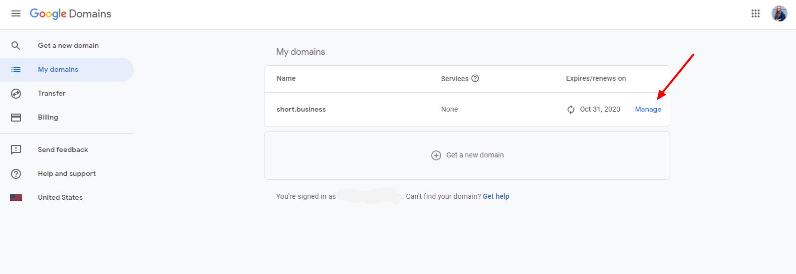 Short.cm DNS google domains