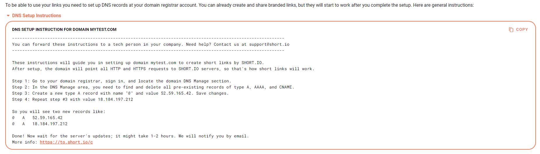 shortio-domain-configuration