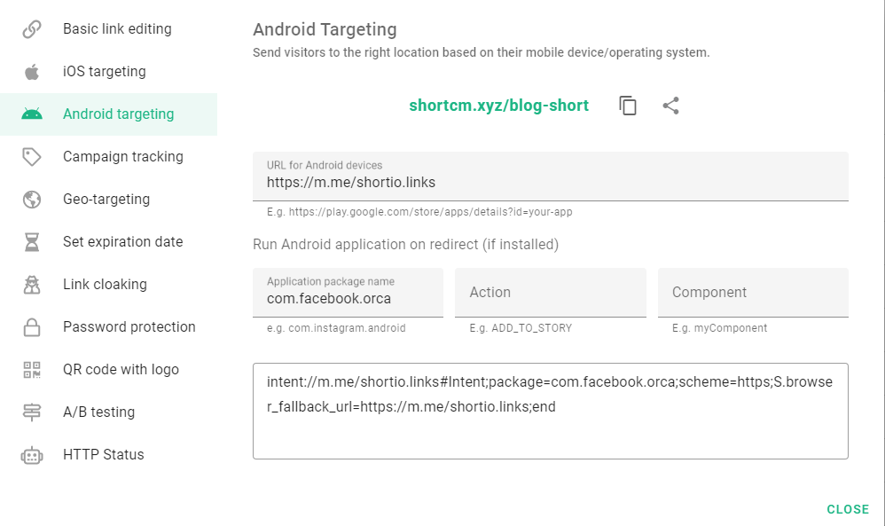 shortio-android-targeting